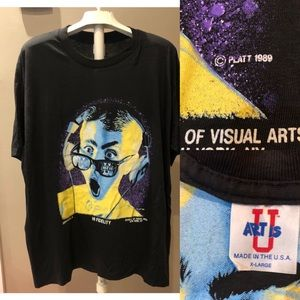 Vtg 89 School of Visual Arts NYC Tee